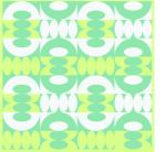 Grönt retromönster